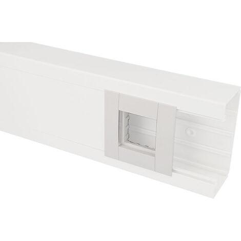 Adaptateur Quadro 45 pour goulotte Efapel 90 et 110 x 50 mm