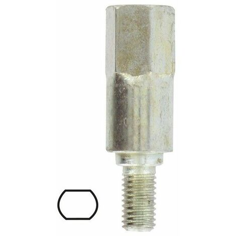 Adaptateur renvoi d'angle débroussailleuse profil STIHL 6.5 mm