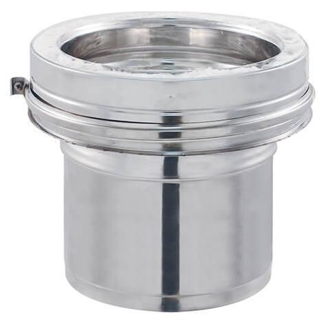 Adaptateur Simple Paroi Lisse / Double Paroi INOX - Diamètre intérieur 180 mm