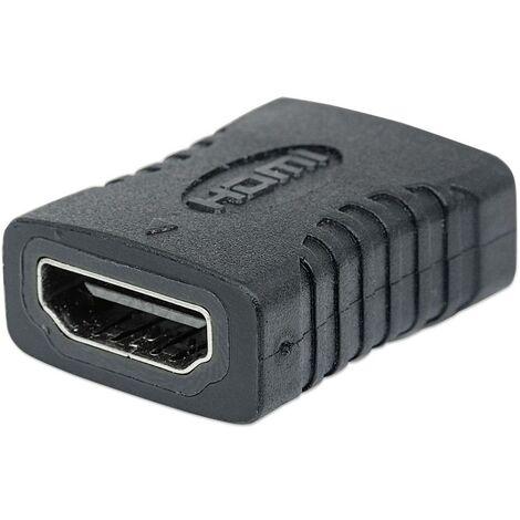 Adaptateur TV, écran Manhattan 353465 [1x HDMI femelle - 1x HDMI femelle] noir contacts dorés 1 pc(s)