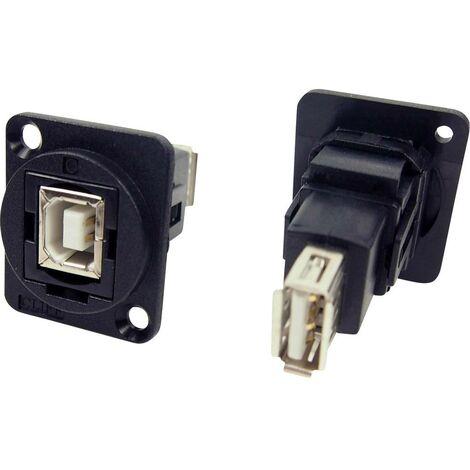 Adaptateur USB 2.0 type B femelle vers USB 2.0 type A femelle Cliff CP30207N 1 pc(s)