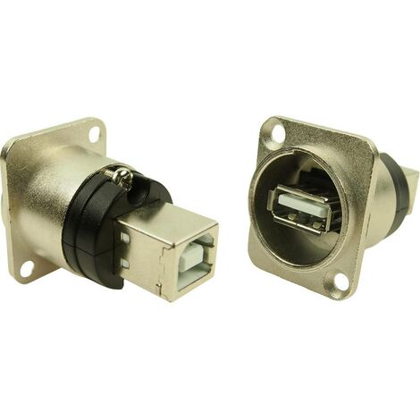 Adaptateur USB B vers USB A forme XLR Cliff CP30110 Adaptateur/prolongateur encastrable Contenu: 1 pc(s)