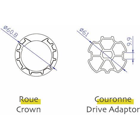 Adaptations Axe ZF64 pour moteurs AVOSDIM diamètre 45mm
