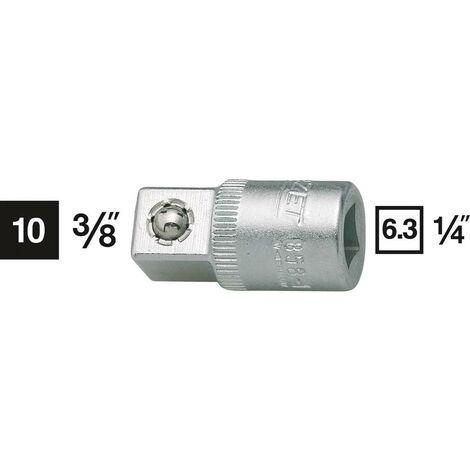 Adattatore per bussole Impronta (cacciavite) 1/4 (6.3 mm) Sezione 3/8 (10 mm) 26.5 mm Hazet 858-1