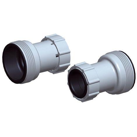 Adattatore ricambio pompa filtro piscina tubo da 38 a 32 mm pz 2 bestway 58236