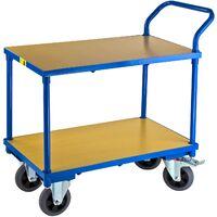 ADB Transportwagen Etagenwagen Rollwagen Materialwagen mit 2 Etagen Tischwagen