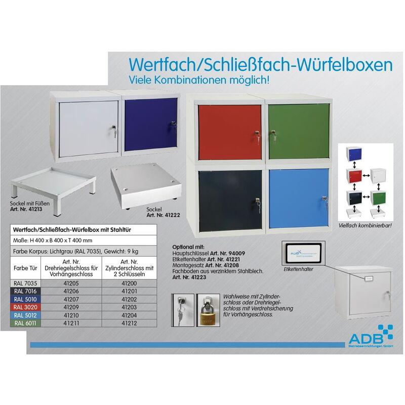 ADB Wertfach Schließfach Würfelbox Tresor Spind Würfel erweiterbar 40x40x40 cm