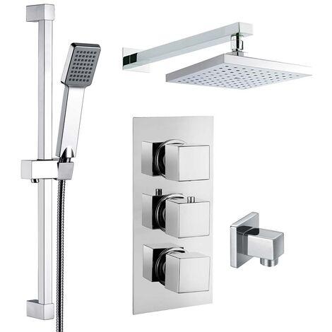 Adda Concealed Thermostatic Shower Set - By Voda Design