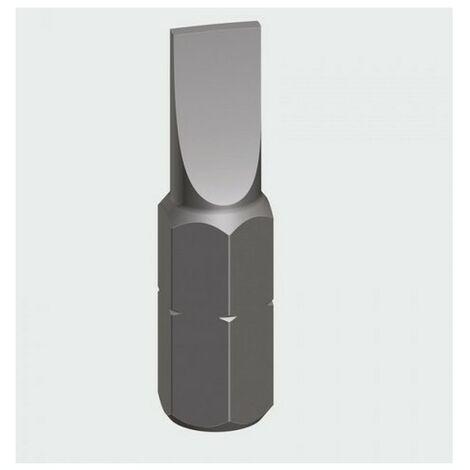 Addax 6010SL25GB Slotted Driver Bit S2 Grey 6.0 x 1.0 x 25mm Pack of 2