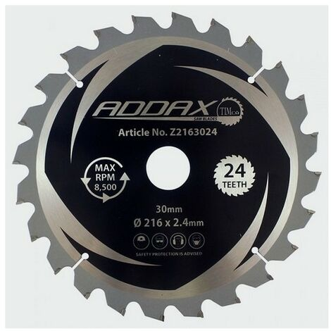Addax Z2163024 TCT Mitre Saw Blade 216 x 30 x 24T
