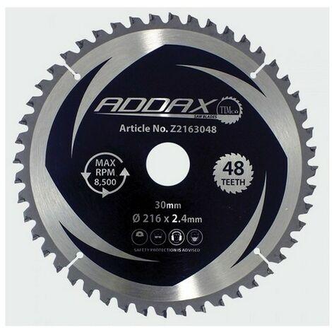 Addax Z2163048 TCT Mitre Saw Blade 216 x 30 x 48T
