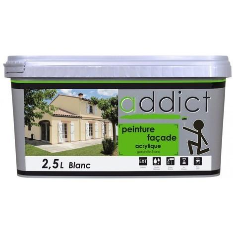 """main image of """"Addict Peinture façade acrylique imperméable protection longue durée 2,5L Ton pierre"""""""