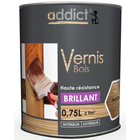 Addict Vernis Bois Brillant 750ml Incolore
