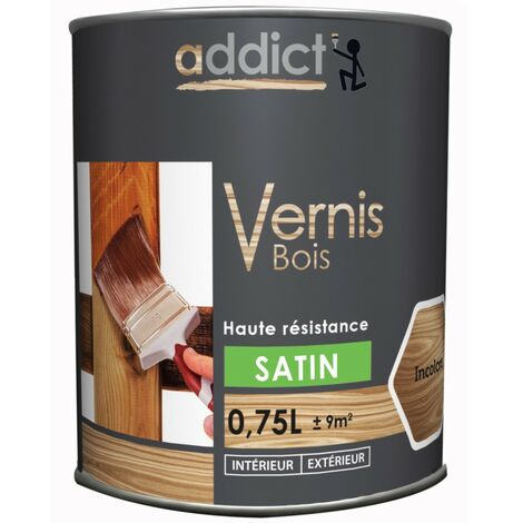 Addict Vernis Bois Satin 750ml Incolore
