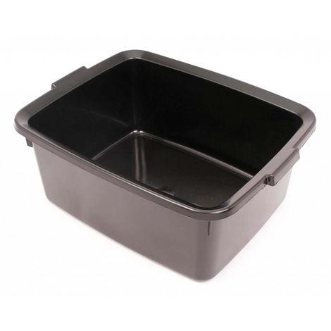Addis 5 Star Rectangular Washing Up Bowl 12 Litres Black / Metallic