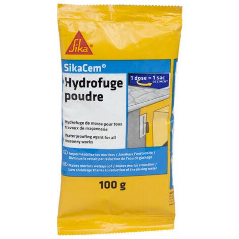 Additif imperméabilisant béton et mortier SIKA SikaCem Hydrofuge Poudre - 100g