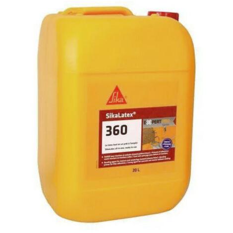 Additif pour mortiers et bétons tout en un prêt à l'emploi - SIKA SikaLatex 360 - Blanc - 20L