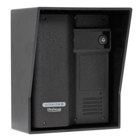 Additional UltraCOM2 Caller Station (no keypad) Black with Black Hood. [006-2600]