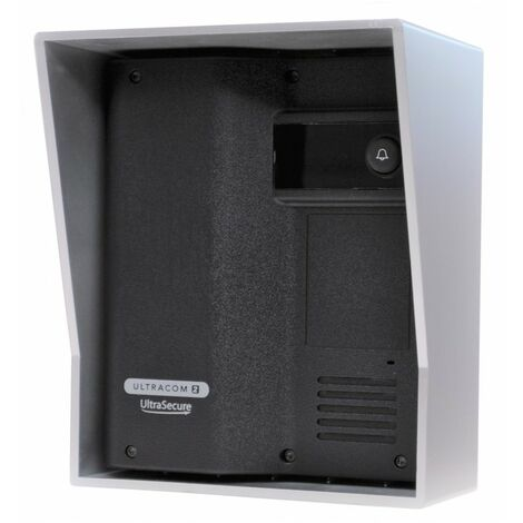 Additional UltraCOM2 Caller Station (no keypad) Black with Silver Hood. [006-2610]