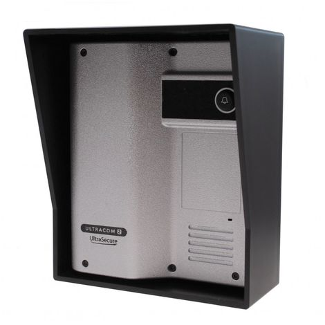 Additional UltraCOM2 Caller Station (no keypad) Silver with Black Hood. [006-2500]