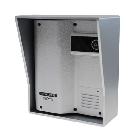 Additional UltraCOM2 Caller Station (no keypad) Silver with Silver Hood. [006-2510]