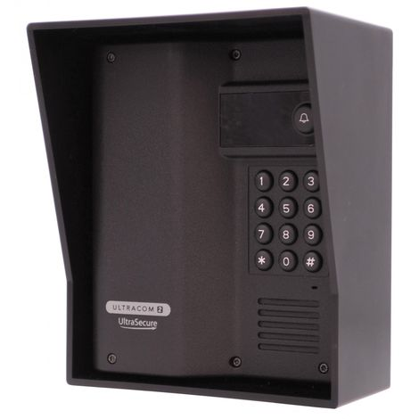 Additional UltraCOM2 Caller Station (with keypad) Black with Black Hood. [006-4050]