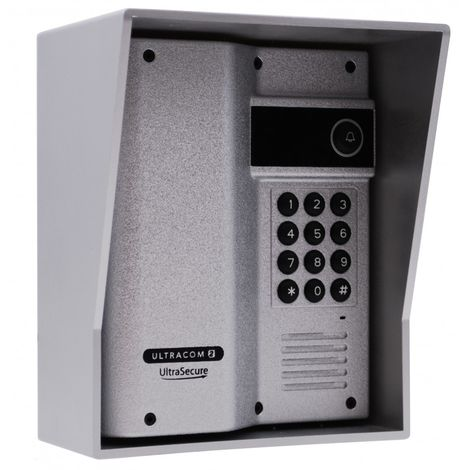 Additional UltraCOM2 Caller Station (with keypad) Silver with Silver Hood. [006-4020]