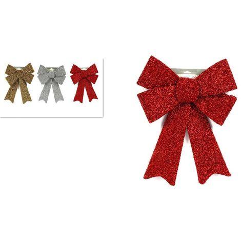Foto Fiocchi Di Natale.Addobbi Natalizi Fiocco Fiocchi Per Decorazione Addobbo Albero Di Natale 30 Cm