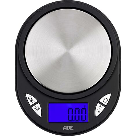 """main image of """"ADE TE1700 Fred Balance de poche Plage de pesée (max.) 100 g Lisibilité 0.01 g à pile(s) noir, argent X764521"""""""