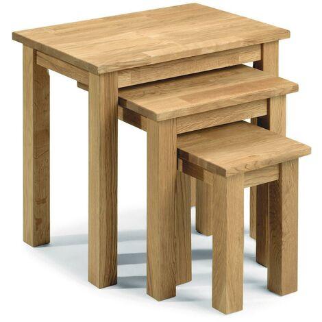 Adelaide OAK NEST OF 3 TABLES