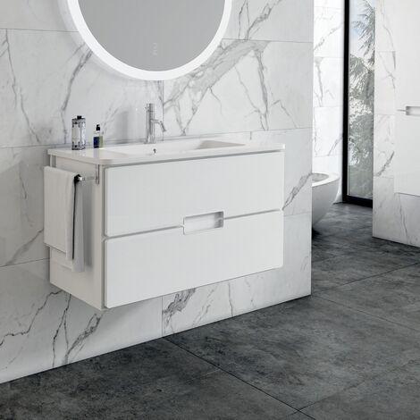 """main image of """"Adele 60cm Basin Set - 60cm Basin & 2 Drawer Basin Unit in White"""""""