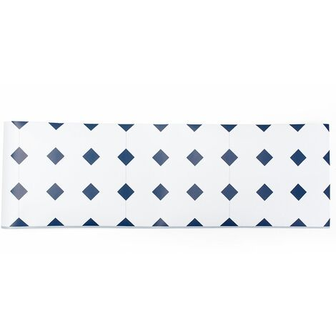 Adhésif Style Européen Carrelage Art 3D Géométrique Sticker Mural Décalque Décor Amovible pour Chambre Maison Kithcen Salle De Bains (Taille: 20cm x 5M) (Type 2)