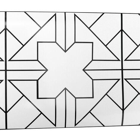 Adhésif Style Européen Carrelage Art 3D Géométrique Sticker Mural Decal Décor Amovible pour Chambre Maison Kithcen Salle De Bains (Taille: 20 cm x 5 M) (Type 1)