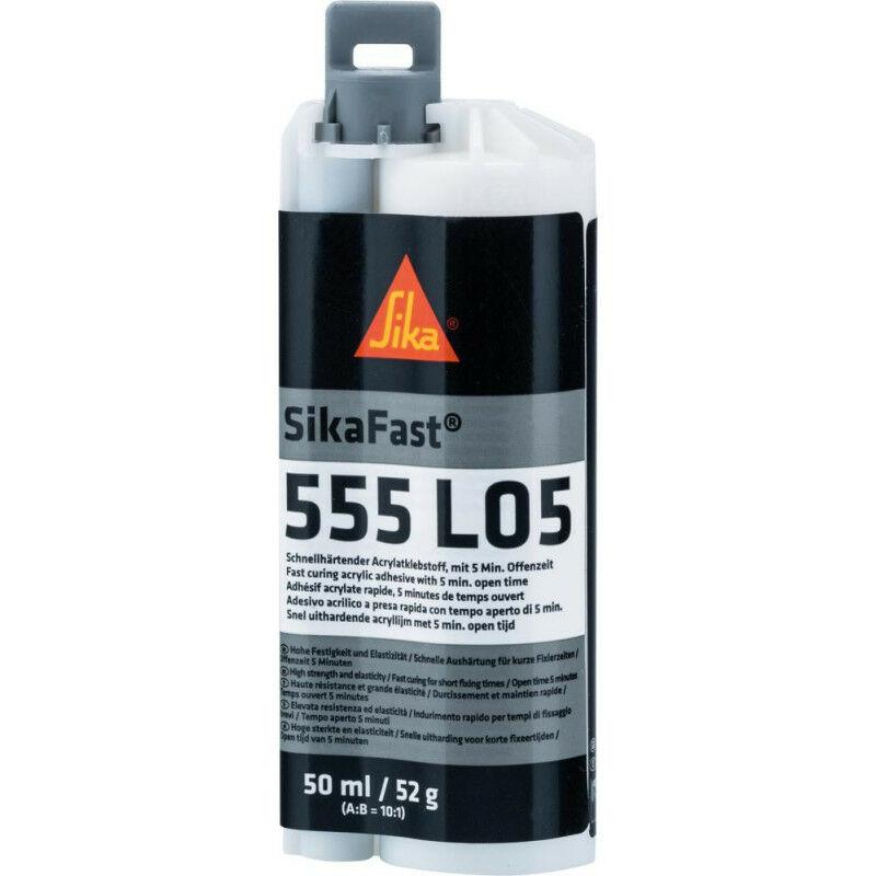 FP - Adhésif acrylate rapide SikaFast-555 L05 50ml Dual-Cartouche 2- (Par 12)