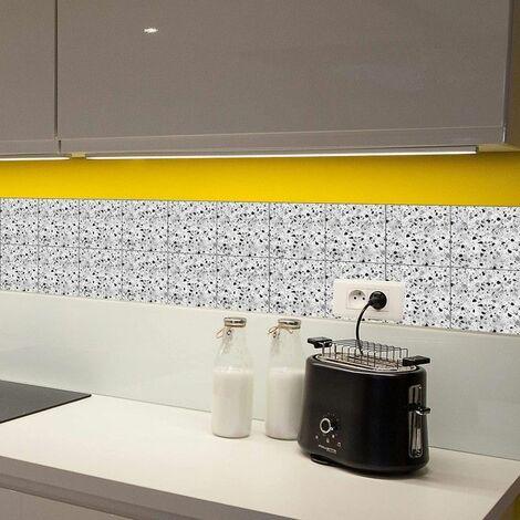 Adhésif carrelage et crédences de MadeInNature®, rafraichit facilement et rapidement vos murs - Carreaux Multi - Lot de 3 unités, 0.22 m².