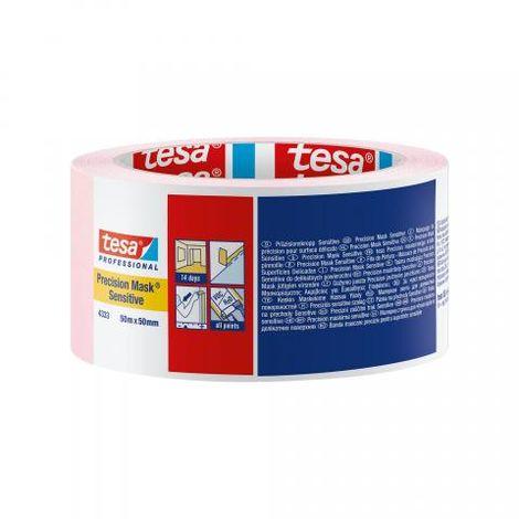 Adhésif de masquage de précision, surfaces sensibles, 50 mm x 50 m - tesa® 4333