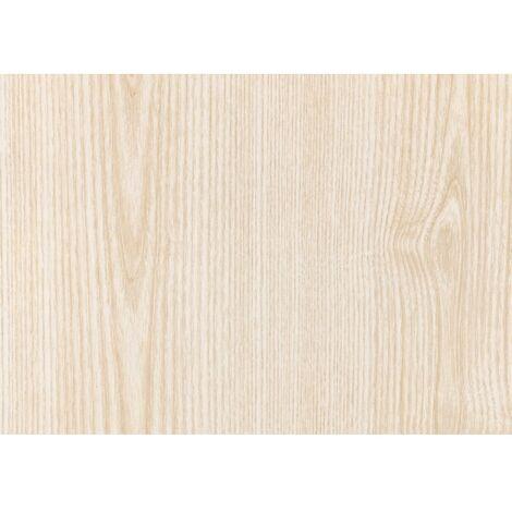 Adhésif Décoratif aspect bois frêne blanc 45cmx2m