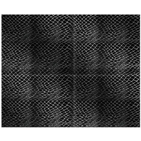 Adhésif décoratif Aspect crocodile - 150 x 45cm - noir - Noir