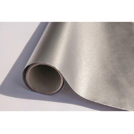 Adhésif Décoratif aspect métal brossé structuré 45cmx1.5m