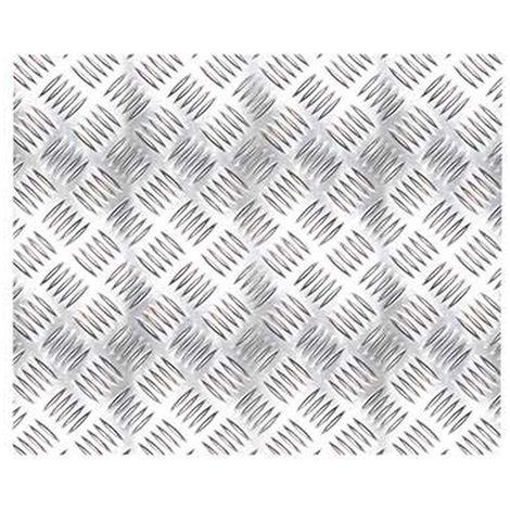 Adhésif décoratif Aspect métallique trait - 150 x 45cm - Gris