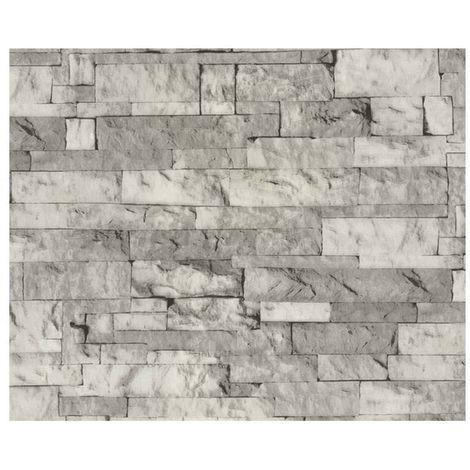 Adhésif décoratif Aspect pierre grise - 150 x 45cm - Gris