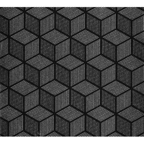 Adhésif décoratif Cubic - 200 x 45 cm - Noir - Noir