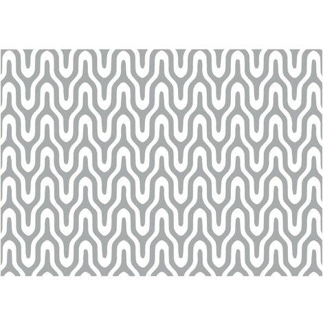 Adhésif décoratif Graphic - 200 x 45 cm - Argent - Argent