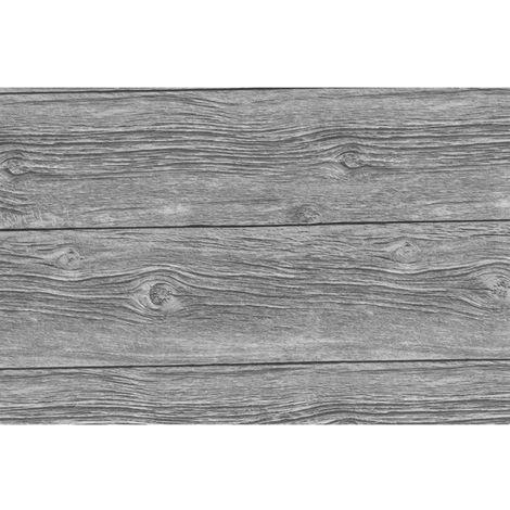 Adhésif décoratif Grey Wood - 200 x 45 cm - Gris - Gris