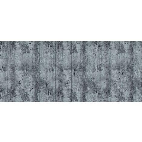 Adhésif décoratif pour meuble Bois vieilli - 200 x 45 cm - Gris