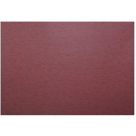 Adhésif décoratif pour meuble effet Cuir - 200 x 45 cm - Rouge - Rouge