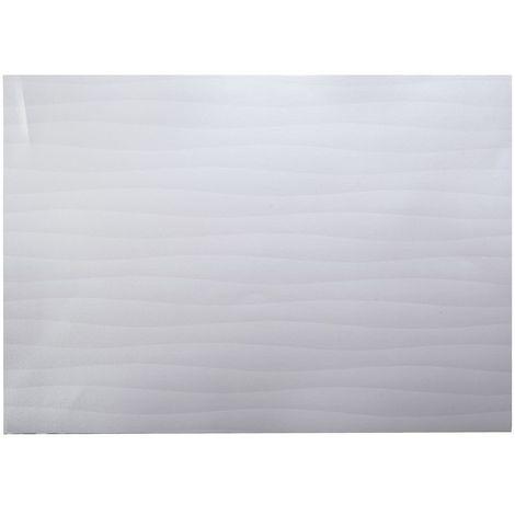 Adhésif décoratif pour meuble effet Vague - 200 x 45 cm - Blanc - Blanc