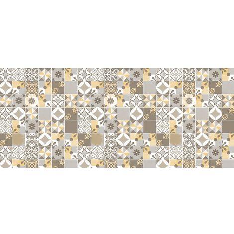 Adhésif décoratif pour meuble imprimé Château - 200 x 45 cm - Jaune - Jaune