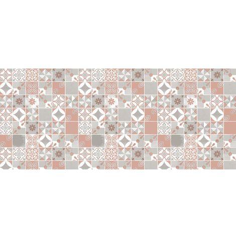 Adhésif décoratif pour meuble imprimé Château - 200 x 45 cm - Rose