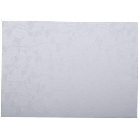 Adhésif décoratif pour meuble imprimé fleurs Végetal - 200 x 45 cm - Blanc